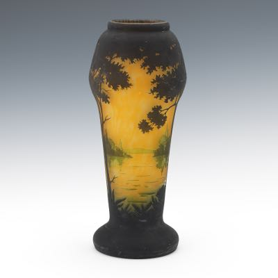 Daum Nancy Tapering Cameo Glass Vase 052517 Sold 2124