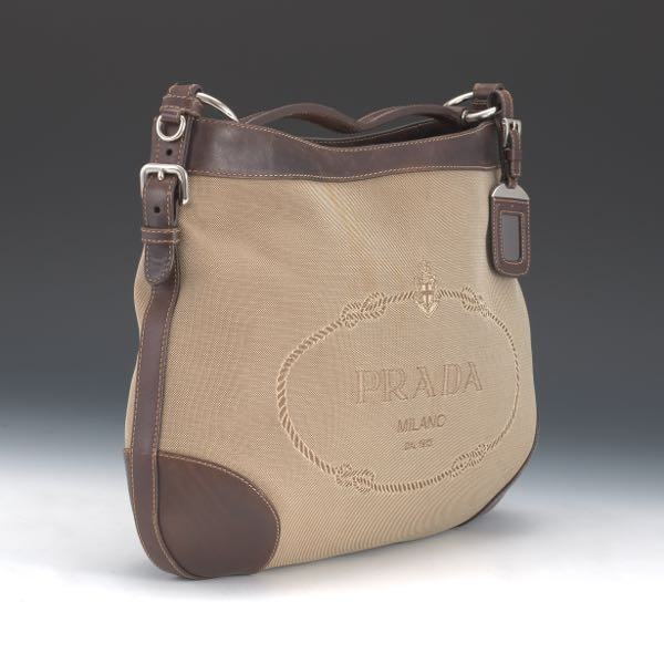 8f70456a6f61 Prada Canvas and Leather Hobo Bag