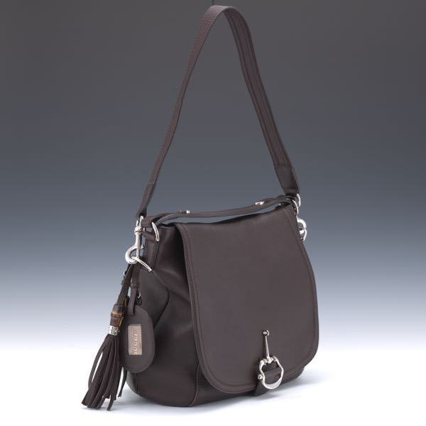01bc6fd50179 Gucci Pebbled Brown Leather Bag
