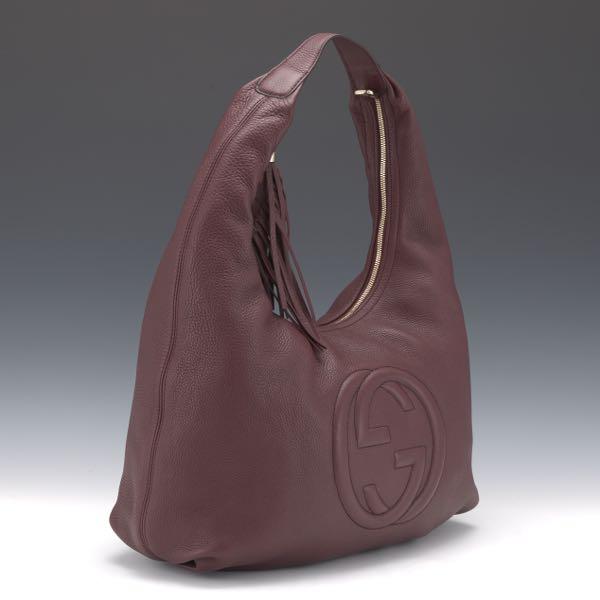 0e34e626ad0f Gucci Interlocking Pebble Leather Hobo Bag