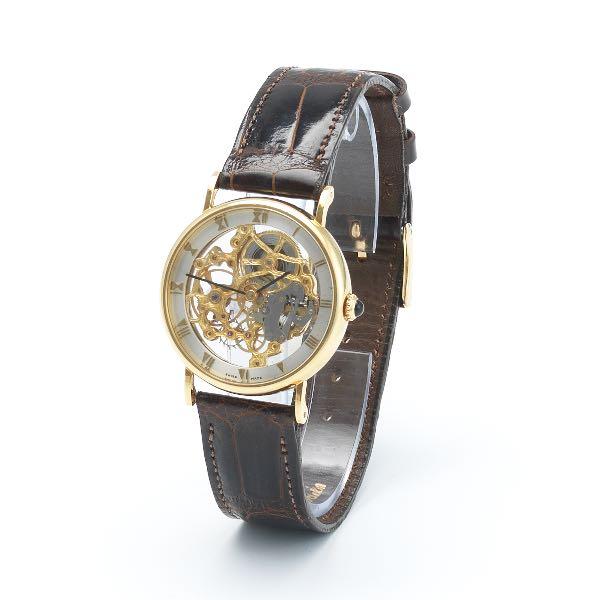 b3a124edc Tiffany and Co. 18k Gold Case Full Skeletonized Watch