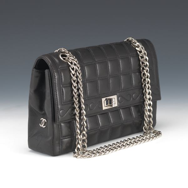 Chanel Black Lamb Leather Flap with Mademoiselle Lock 56f77623a4042