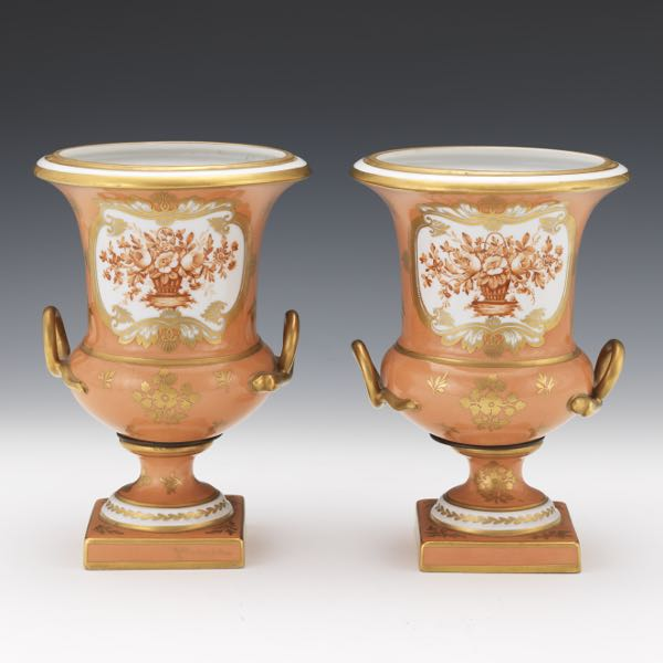 Paris Porcelain Hand Decorated Vase Fitted For Lamp Pia: Aspire Auctions