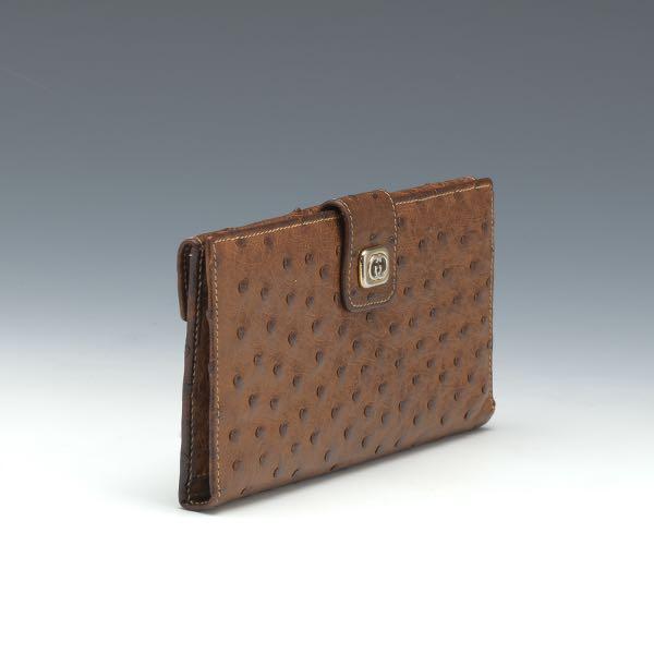 9b6c52ab5ae Gucci Ostrich Skin Wallet