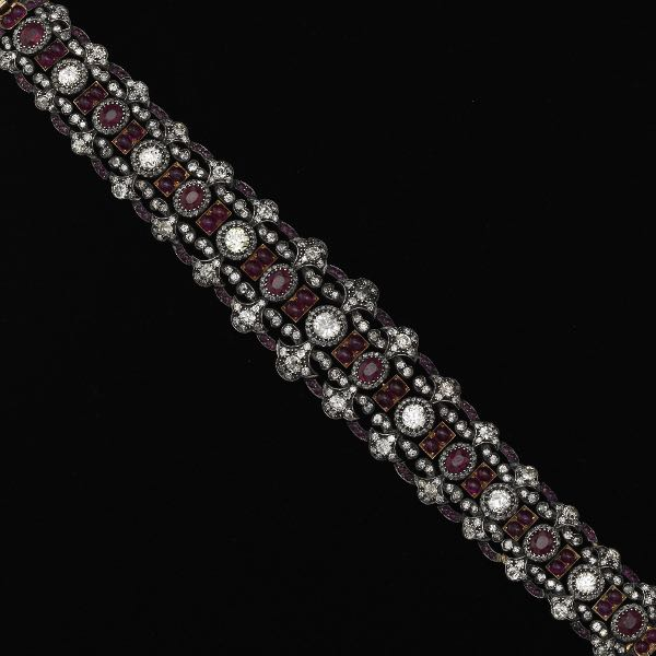 3643661efc6 635. Renaissance Revival Style Ruby and Diamond Bracelet