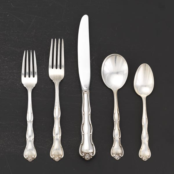 "Silverplate Gorham 1890 Kings Dinner Fork 7 1//8/"" 13-No Monogram /& monogram D"
