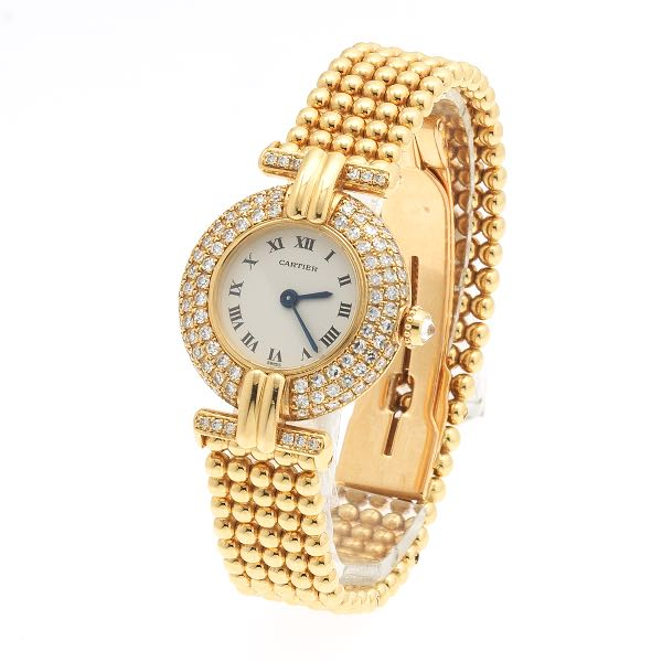 952e6584b9084 Cartier Colisee Gold and Diamond Vendome Watch