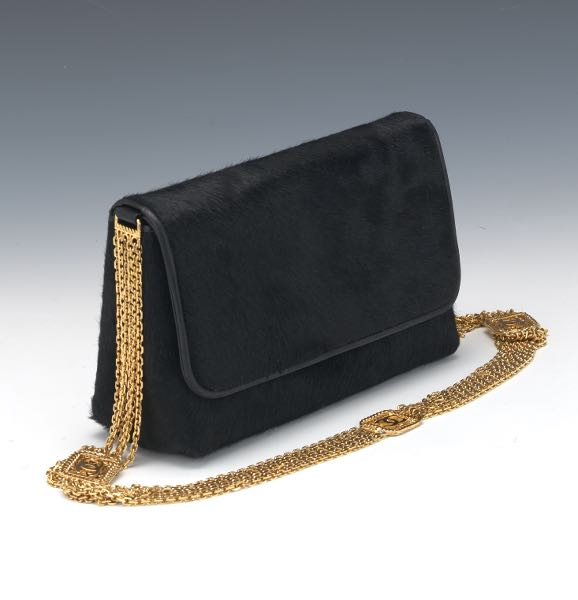 ff8c42de885f Chanel Black Pony Hair Shoulder Bag, ca. 1988