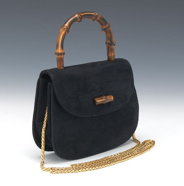 c42787019f7 Gucci Black Suede Evening Bag