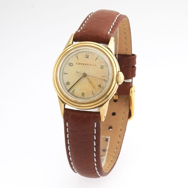 64794dce5 Tiffany & Co. Movado Watch, ca.1940's. Watch features marked Movado 14k gold  ...