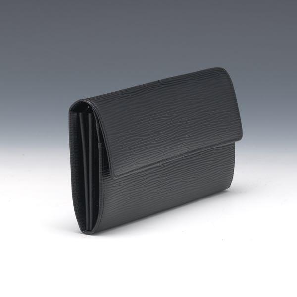 d9656f2dfb1d Louis Vuitton Black Epi Leather Wallet