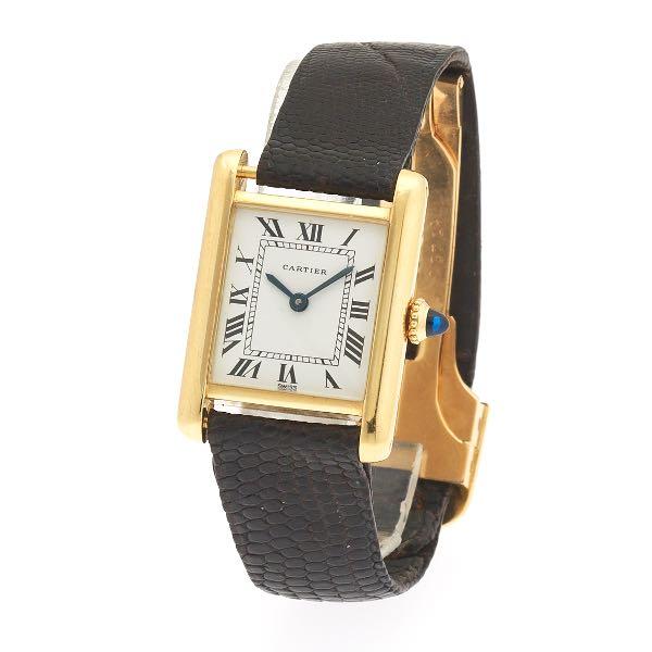fa7b49e95c633 Cartier 18K Gold Ladies' Tank Watch